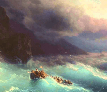 Exhibition for the 200th anniversary of the birth of Ivan Aivazovsky. Painting from the collection of the Omsk Museum of Fine Arts named after MA Vrubel