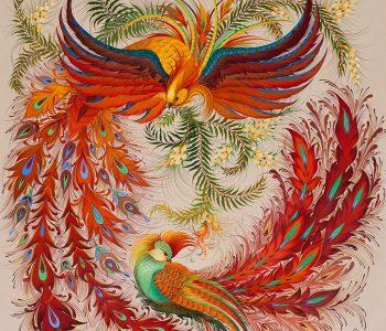 Выставка Алены Кичкиной «Птицы и цветы»