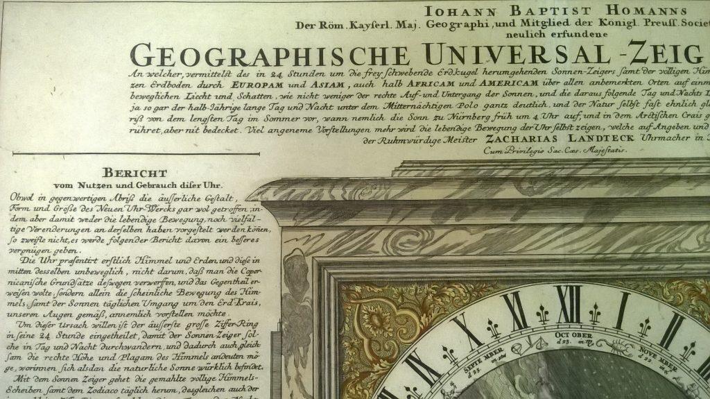 Выставка одного экспоната «Гравюра. Географические универсальные часы»