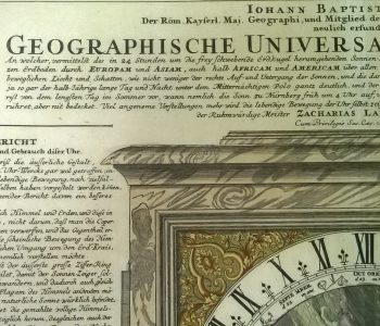 Exhibition of one exhibit Engraving. Geographic Universal Watches
