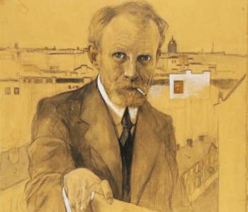 Выставка одной картины К 100-летию революции 1917-го года А.И. ВАХРАМЕЕВ. МИТИНГ. 1917