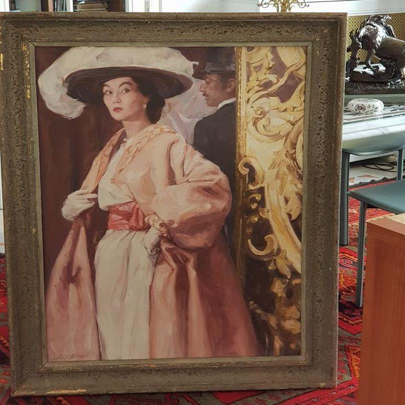 Выставка картины «Портрет Музы Диора»