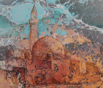 Выставка картин в традиционной турецкой технике эбру «Грёзы на воде»